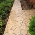 Random Stone Stamped Concrete Pattern