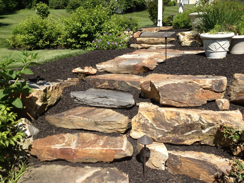 Countdown to summer outdoor living ideas difelice for Pictures of stone steps