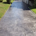 stained concrete walkway