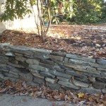 front yard stone wall