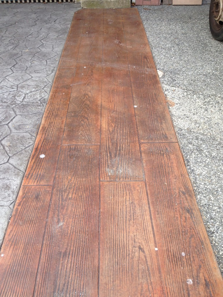 Stamped Concrete Wood Pattern Simple Inspiration