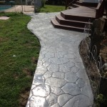 stone walkway pattern with steps