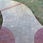 stamped concrete cobblestone walkway