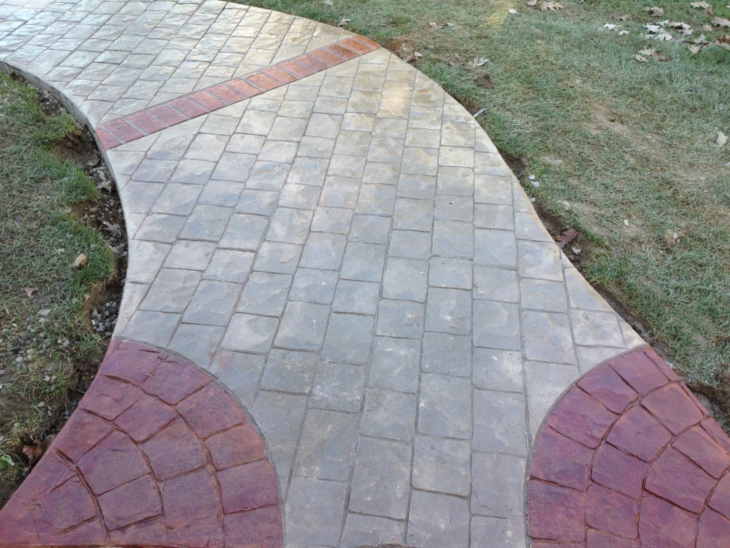 Concrete walkways chadds ford difelice stamped concrete - Stamped concrete walkway ideas ...