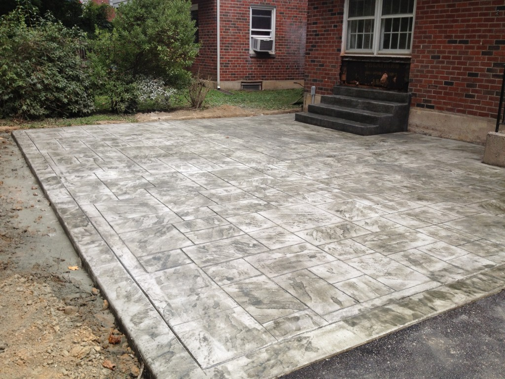 Backyard Stamped Concrete