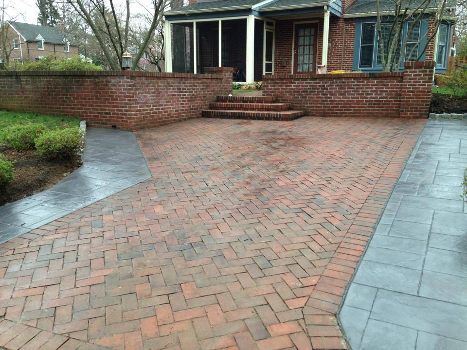Herringbone Stamped Concrete Pattern