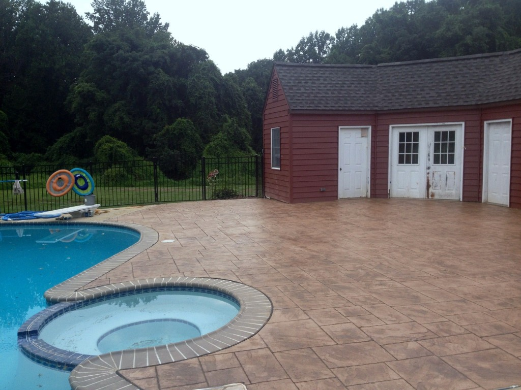 Concrete Pool Decks Photo Gallery Decorative Concrete Pool Decks The Newest Trend  Difelice