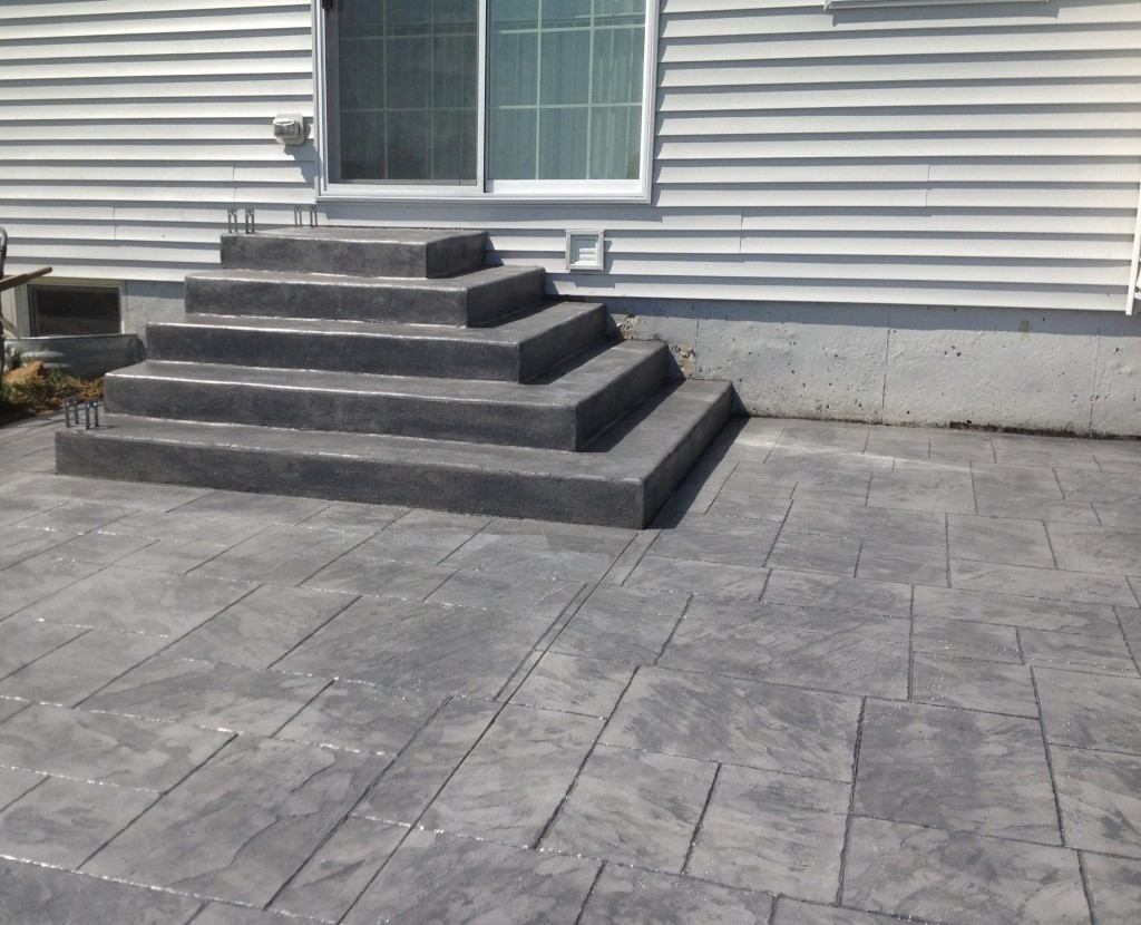 stamped concrete steps patio with stairs e93 patio