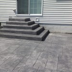 stamped concrete steps and back porch