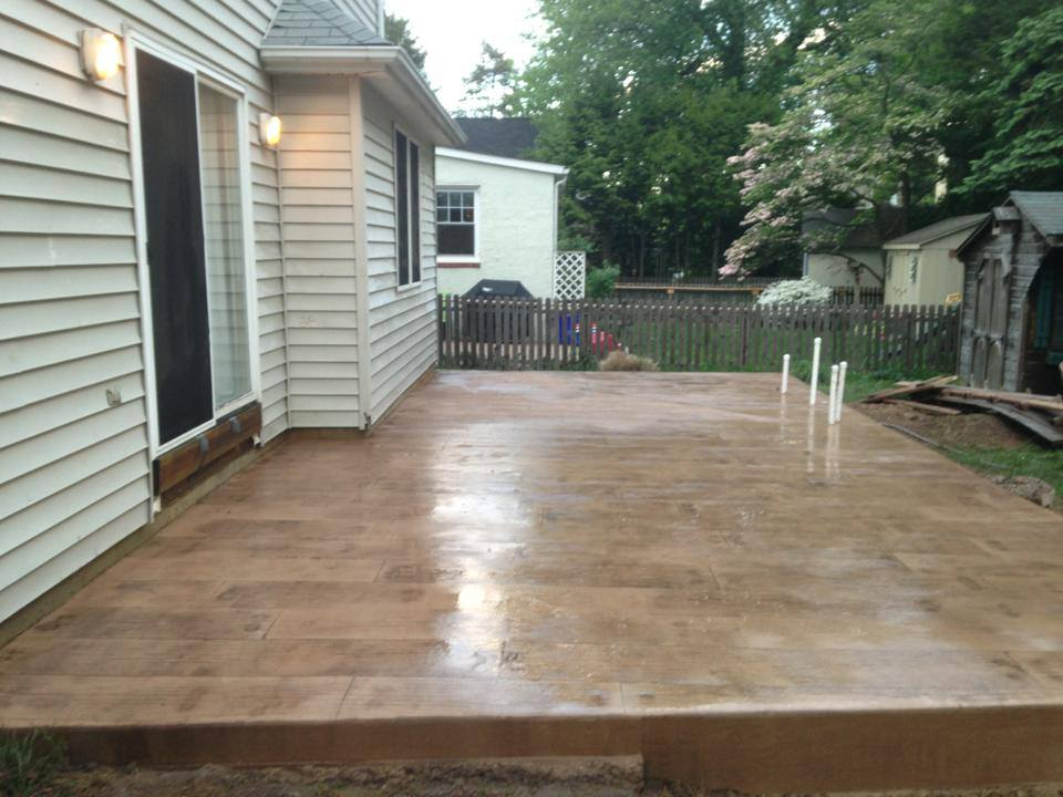 boardwalk stamped concrete