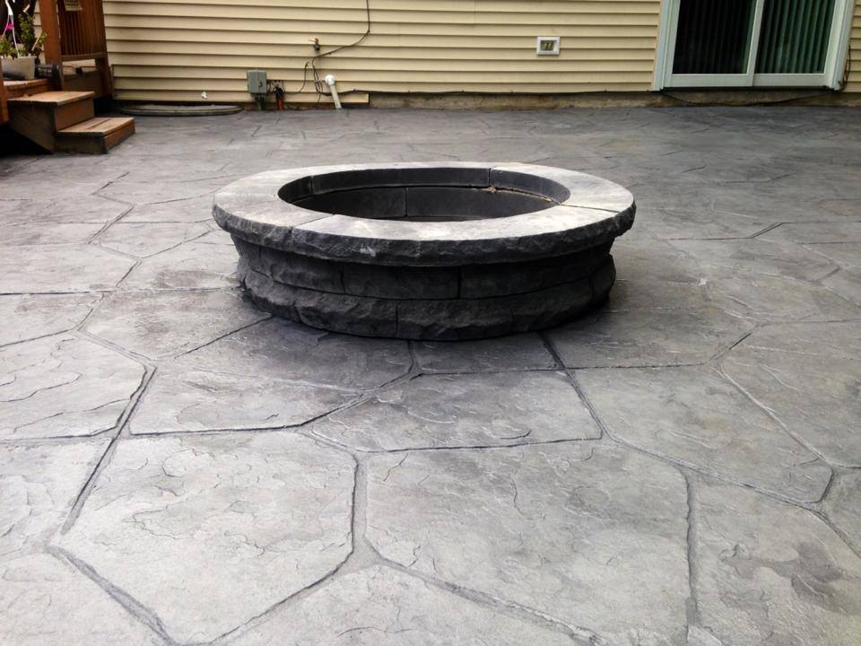 Get the Fire Pit Ready for Fall DiFelice Stamped Concrete and