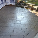 backyard stamped concrete