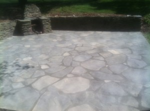 stamped concrete patio in chadds ford, PA