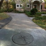 custom driveway in PA using stamped concrete