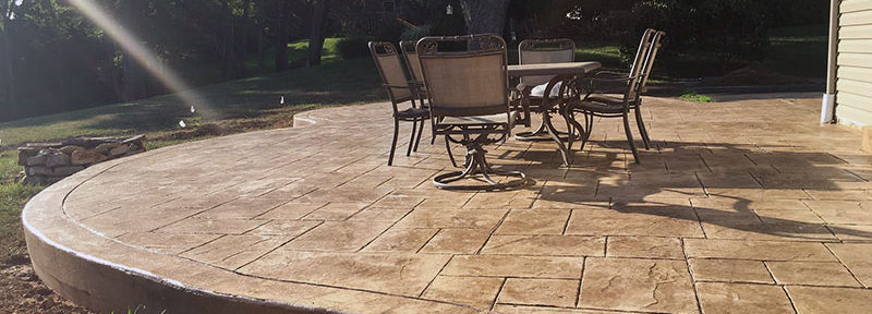Stamped Concrete Patio in Thorton, PA