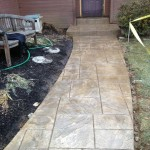 stamped concrete pathway