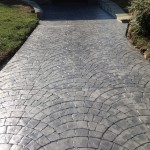 fan cobblestone concrete pattern