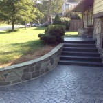stamped concrete driveway and pathway