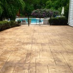 20x40 ft. Stamped Concrete Patio in Glen Mills