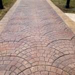 fan cobblestone stamped concrete pattern