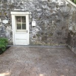 stamped concrete back patio