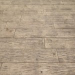 Wood pattern made with stamped concrete