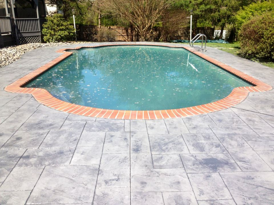 concrete pool deck chadds ford difelice stamped concrete. Black Bedroom Furniture Sets. Home Design Ideas