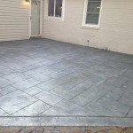 Slate concrete pattern with green highlights in Bryn Mawr, Pa