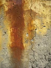 concrete rust stain
