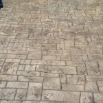 Euro stone stamped concrete pattern