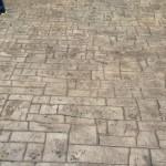 Euro stone stamped concrete pattern