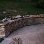 custom stone masonry wall