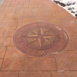 acid stained stamped concrete
