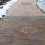 acid stained walkway