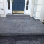 front patio after stampable overlay