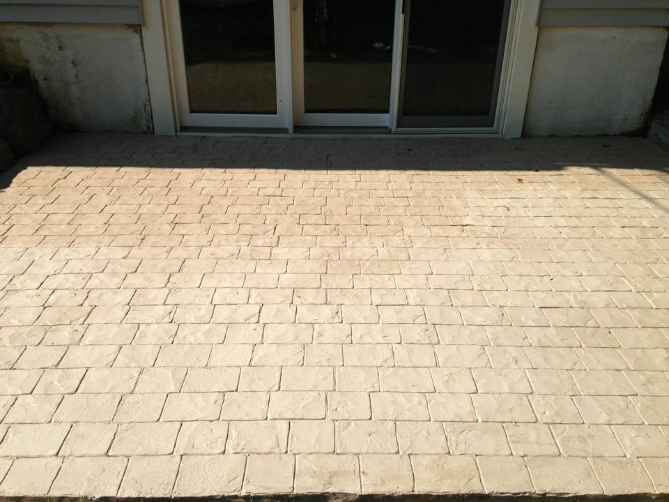 Patio After Stampable Overlay