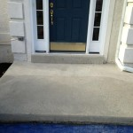 front patio before stampable overlay