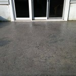 patio before stampable overlay