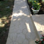 walkway after stampable overlay