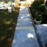 walkway before stampable overlay
