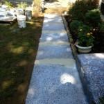 walkway before stampable overlay