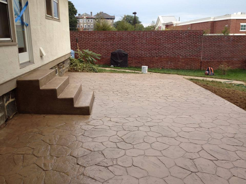 Backyard stamped concrete patio ideas various design inspiration for backyard - Concrete backyard design ...
