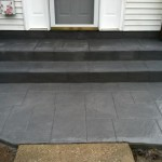 stamped concrete steps