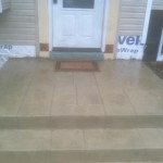 custom concrete stone steps