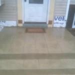 custom concrete stone steps