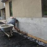 applying the stucco