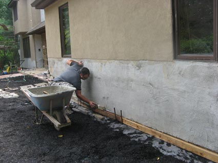 Stucco chadds ford difelice stamped concrete masonry for Concrete block stucco